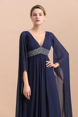 Elegante Brautmutterkleider Dunkel Blau | Hochzeitspartykleider Brautmutter_9