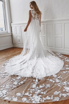 Elegant wedding dresses with lace | Mermaid wedding dress cheap online_2