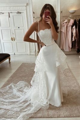 Gorgeous wedding dresses with lace | Mermaid wedding dresses online_1
