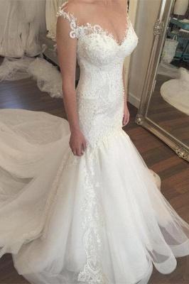Made to measure wedding dresses white lace mermaid straps wedding fashions bridal fashions_1