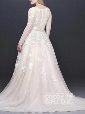 Brautkleider Mit Spitzenärmel | Hochzeitskleider Große Größen_2