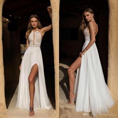 Schlichte Hochzeitskleid mit Spitze | Etuikleider Brautmoden Online_2