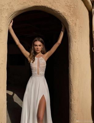 Schlichte Hochzeitskleid mit Spitze | Etuikleider Brautmoden Online_4