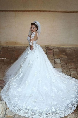 Designer wedding dress with sleeves | Princess wedding dress with lace_2