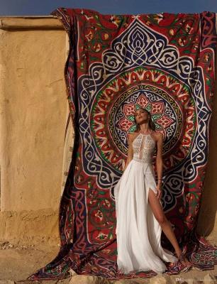 Schlichte Hochzeitskleid mit Spitze | Etuikleider Brautmoden Online_3
