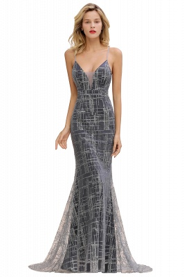 Silver evening dress with lace | Prom dresses long cheap_3