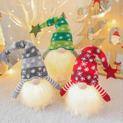 Christmas Decoration With Glowing Gnome Stuffed Light Faceless Dolls Ornaments Window Table Decoration Christmas Gift Party Supplies_6