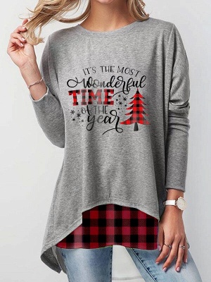 Gray Christmas sweater women | Funny sweaters cheap