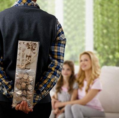 Geschenke für Mütter Väter - Holz Familie Geburtstag Weihnachten Erinnerung Kalender Board_13