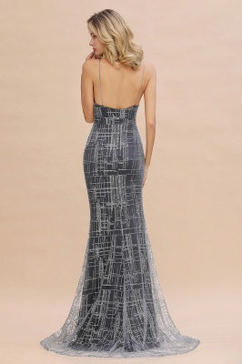 Silver evening dress with lace | Prom dresses long cheap_7