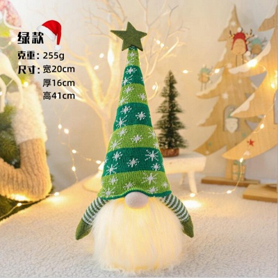 Christmas Decoration With Glowing Gnome Stuffed Light Faceless Dolls Ornaments Window Table Decoration Christmas Gift Party Supplies_3
