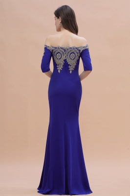 Designer Evening Dresses With Sleeves | King Blue Prom Dresses Long_12