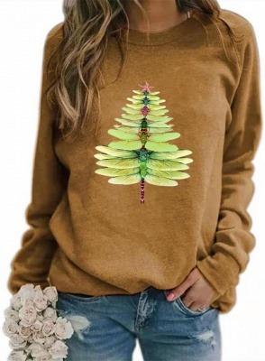 Sweater dragonfly Christmas tree | Christmas sweater women_3