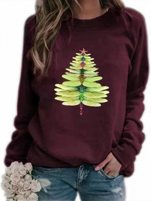 Sweater dragonfly Christmas tree | Christmas sweater women_2