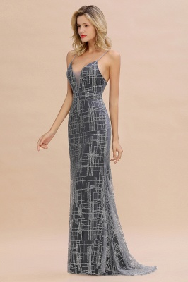 Silver evening dress with lace | Prom dresses long cheap_11