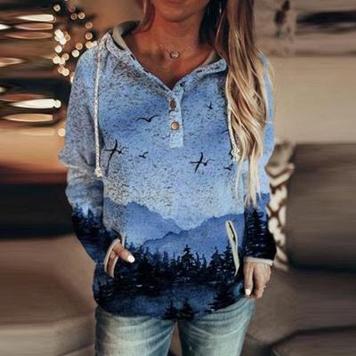 Blue 3D Print Hoodie | Sweatshirt sweater_2