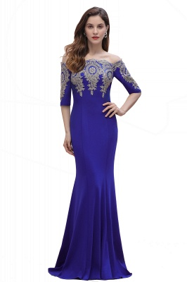 Designer Evening Dresses With Sleeves | King Blue Prom Dresses Long_3