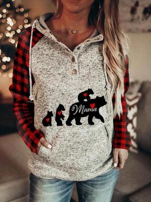 Grau Hoodie Bedrucken | Weihnachtspullover Damen_1