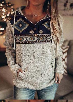Hoodie Gray Print | Sweater women_4