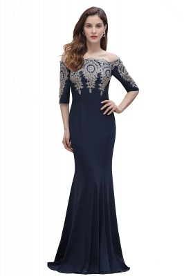 Designer Evening Dresses With Sleeves | King Blue Prom Dresses Long_4