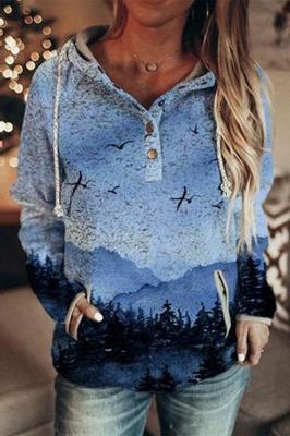 Blue 3D Print Hoodie | Sweatshirt sweater_1