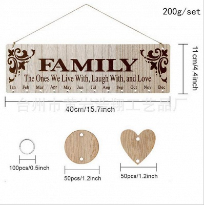 Gifts for Moms Dads - Wooden Family Birthday Reminder Calendar Board_3