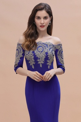 Designer Evening Dresses With Sleeves | King Blue Prom Dresses Long_6