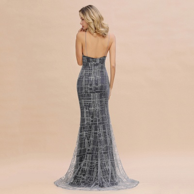 Silver evening dress with lace | Prom dresses long cheap_13