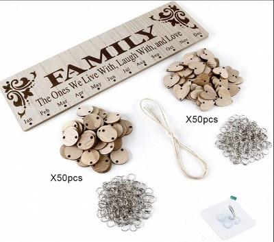 Geschenke für Mütter Väter - Holz Familie Geburtstag Weihnachten Erinnerung Kalender Board_11