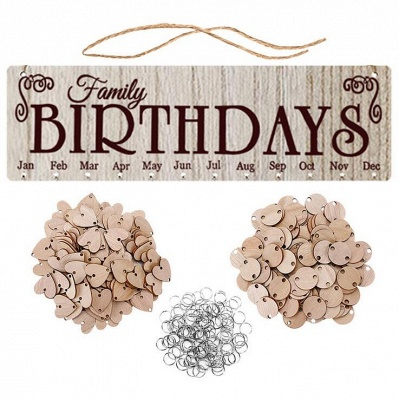 Gifts for Moms Dads - Wooden Family Birthday Reminder Calendar Board_5