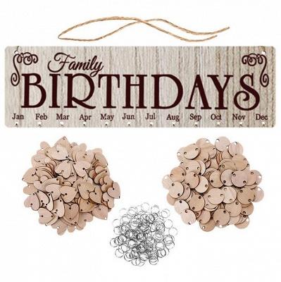 Geschenke für Mütter Väter - Holz Familie Geburtstag Weihnachten Erinnerung Kalender Board_5