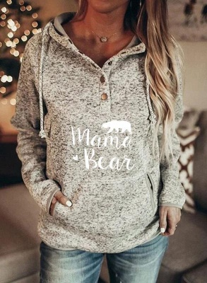 Sweetshirt Pullover Gray | Printed hoodies