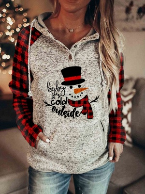Sweatshirt Hoodie Print | Christmas sweater women