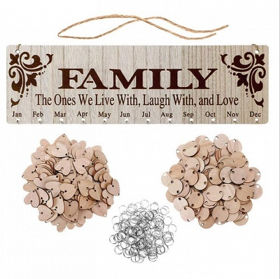 Gifts for Moms Dads - Wooden Family Birthday Reminder Calendar Board_7