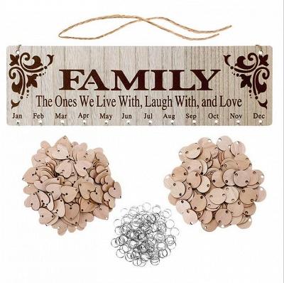 Geschenke für Mütter Väter - Holz Familie Geburtstag Weihnachten Erinnerung Kalender Board_7