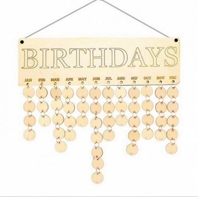 Geschenke für Mütter Väter - Holz Familie Geburtstag Weihnachten Erinnerung Kalender Board_8