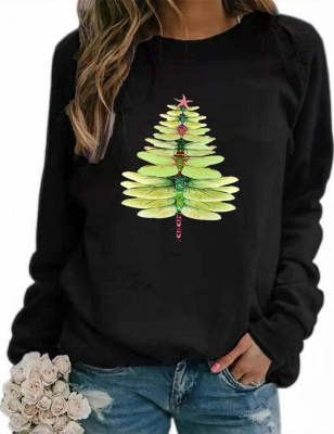 Sweater dragonfly Christmas tree | Christmas sweater women_5
