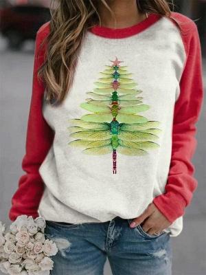 Sweatshirt dragonfly Christmas tree | Christmas sweater women_3