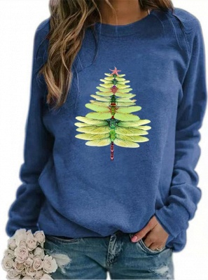 Sweater dragonfly Christmas tree | Christmas sweater women_12