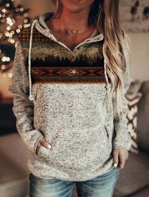 Hoodie Gray Print | Sweater women_1