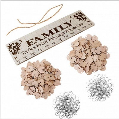 Geschenke für Mütter Väter - Holz Familie Geburtstag Weihnachten Erinnerung Kalender Board_4