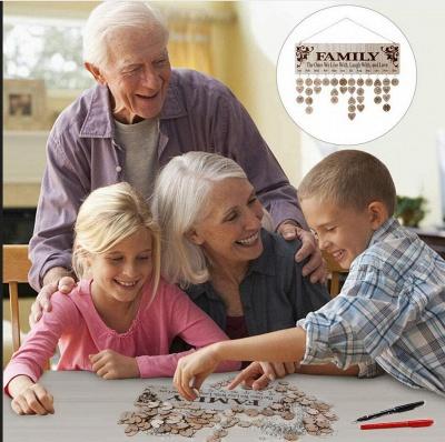 Geschenke für Mütter Väter - Holz Familie Geburtstag Weihnachten Erinnerung Kalender Board_10