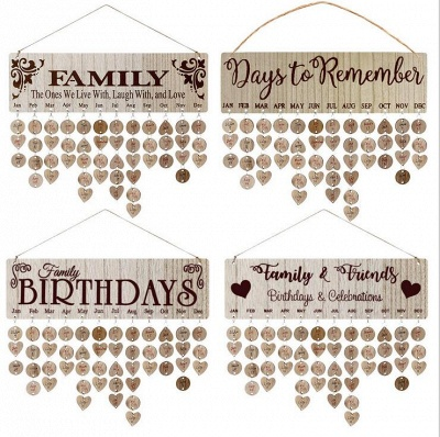 Gifts for Moms Dads - Wooden Family Birthday Reminder Calendar Board_9