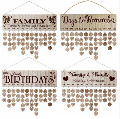 Geschenke für Mütter Väter - Holz Familie Geburtstag Weihnachten Erinnerung Kalender Board_9