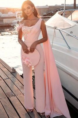 Evening dress long pink | Evening wear women jumpsuit_2
