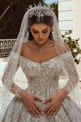 Extravagante Brautkleider A Linie | Hochzeitskleider mit Ärmel_3