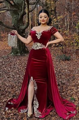 Weinrot Abendkleider Lang Günstig | Festliche kleider Velvet