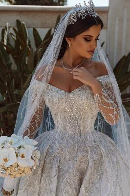 Extravagante Brautkleider A Linie | Hochzeitskleider mit Ärmel_2