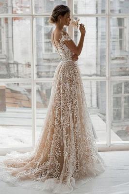 Designer Wedding Dresses A Line | Lace wedding dress maternity wear_2