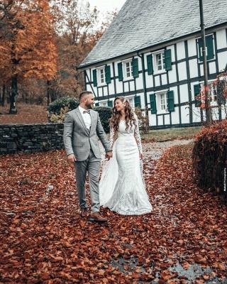 Hochzeitskleid Langarm | Brautkleider Spitze Günstig_6
